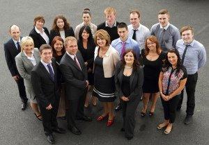 Datapac group photo of interns with Joan Burton.