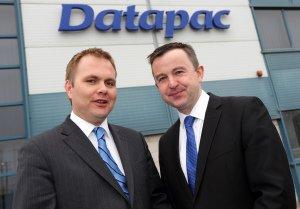 Datapac's Patrick Kickham and Minister Brian Hayes.
