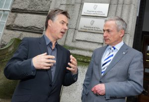 Fineos CEO Michael Kelly and Minister Bruton.