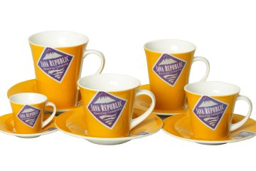 Product photograph of Jave Republic coffee cups.