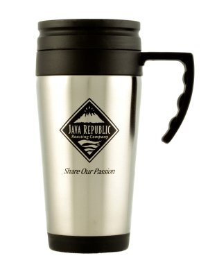 Java Republic Coffee Mug, Pack Shot.