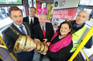 Giro D'Italia Trophy visits Dublin, Luas.