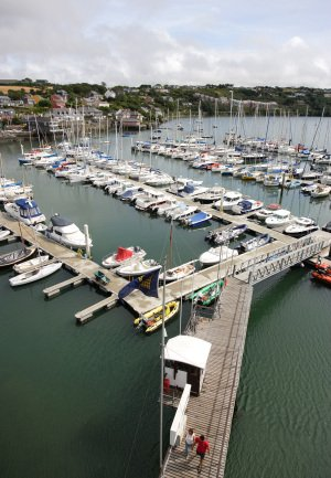 Kinsale Marina photographed from a cherrypicker.