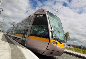 Luas Tram in West Dublin, PR photo.