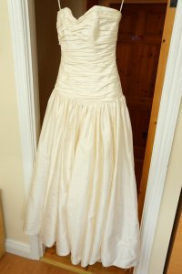 Wedding Dress Hanging up.