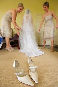 Bridal Dress and Shoes and Bridesmaids.
