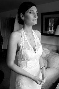Bride waiting at the Brooklodge.