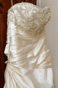 Beautiful photograph of bridal dress.