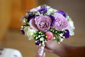 Bridal Flowers, Close up Photo.