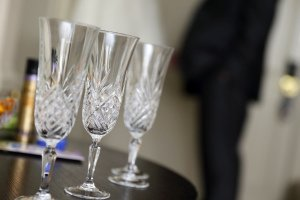 Celebratory Bridal drinks.