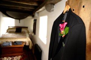 Grooms jacket before wedding.