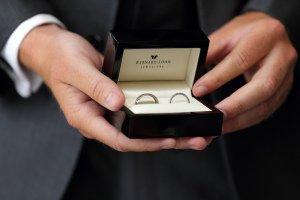 Wedding Rings Close Up.