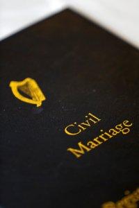 Wedding Register Close up Photo.