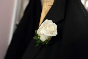 Groom's Flower Wedding Photo.