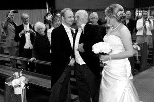 Bride & Father 'handover' to Groom.