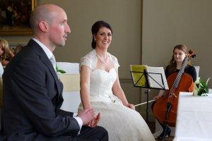 Bride & Groom during a civil wedding ceremony.