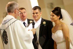 Bride & Groom during wedding ceremony.