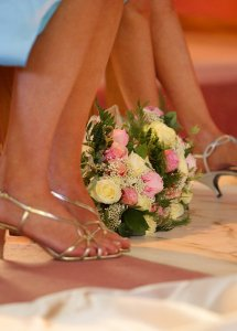 Bridesmaids Shoes & Flowers.