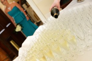 Champagne Wedding Reception Photography.