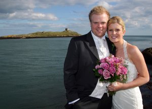 Bride & Groom at Colliemore harbour.