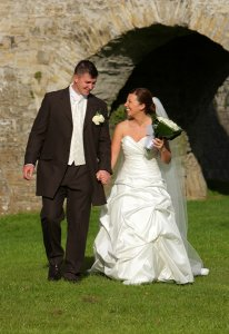 Bride and Groom wedding photography at Trim Castle.