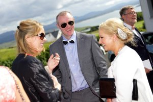 Social Photo at wedding in Donegal.