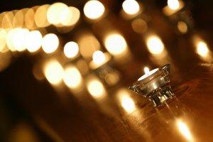Wedding Reception atmospheric photograph.