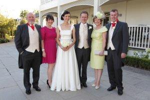 Formal wedding photo at Tulfarris.