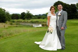 Wedding couple formal photograph at Tulfarris.
