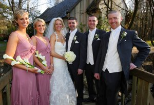 Wedding Party photographed at Brooklodge.