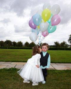 Kids and Balloons at wedding reception.