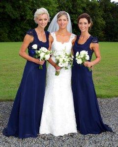Bride and Bridemaids Formal Wedding photo.