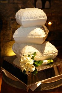 Wedding Cake Close up Photograph.