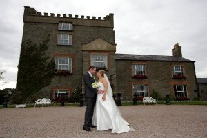 Castle at Darver, Wedding Couple posing.