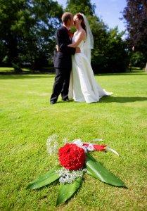 Flowers & Bride & Groom.