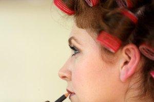 Bridal hair and makeup.
